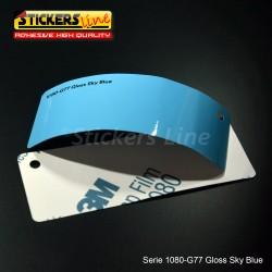 Pellicola adesiva 3M blu cielo lucido serie 1080 cod. G77 adesivo cast film gloss blue car wrapping auto moto