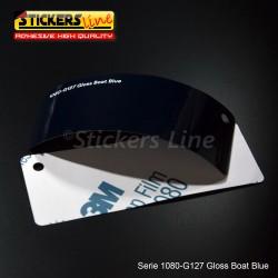 Pellicola adesiva 3M blu boat lucido serie 1080 cod. G127 adesivo cast film gloss blue car wrapping auto moto