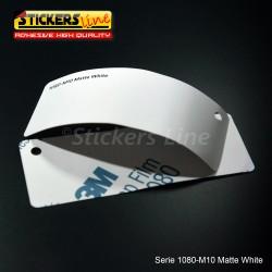 Pellicola adesiva 3M bianco opaco serie 1080 cod. M10 adesivo cast film matte white car wrapping auto moto