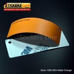 Pellicola adesiva 3M arancione opaco serie 1080 cod. M54 adesivo cast film matte orange car wrapping auto moto
