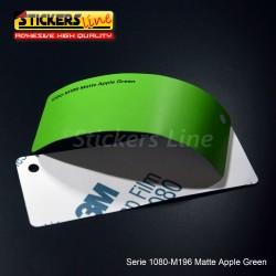 Pellicola adesiva 3M verde mela opaco serie 1080 cod. M196 adesivo cast film matte green car wrapping auto moto