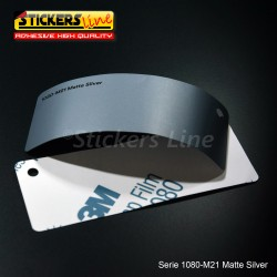 Pellicola adesiva 3M argento opaco serie 1080 cod. M21 adesivo cast film matte silver car wrapping auto moto