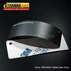 Pellicola adesiva 3M grigio scuro opaco serie 1080 cod. M261 adesivo cast film matte grey car wrapping auto moto