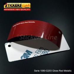Pellicola adesiva 3M rosso metallizzato lucido serie 1080 cod. G203 adesivo cast film metallic red car wrapping auto moto