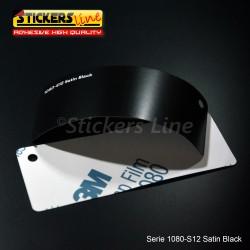 Pellicola adesiva 3M nero satinato serie 1080 cod. S12 adesivo cast film satin black car wrapping auto moto