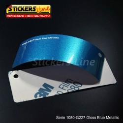 Pellicola adesiva 3M blu metallizzato lucido serie 1080 cod. G227 adesivo cast film metallic blu car wrapping auto moto