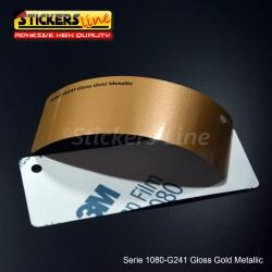 Pellicola adesiva 3M oro metallizzato lucido serie 1080 cod. G241 adesivo cast film metallic gold car wrapping auto moto