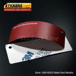 Pellicola adesiva 3M rosso metallizzato opaco serie 1080 cod. M203 adesivo cast film metallic red car wrapping auto moto