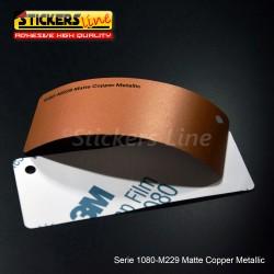 Pellicola adesiva 3M rame metallizzato opaco serie 1080 cod. M229 adesivo cast film metallic copper car wrapping auto moto