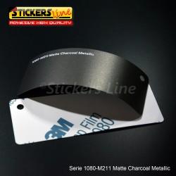 Pellicola adesiva 3M carbone metallizzato opaco serie 1080 cod. M211 adesivo cast film metallic charcoal car wrapping auto moto