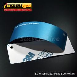 Pellicola adesiva 3M blu metallizzato opaco serie 1080 cod. M227 adesivo cast film metallic blu car wrapping auto moto