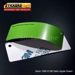 Pellicola adesiva 3M verde mela satinato serie 1080 cod. S196 adesivo cast film satin green car wrapping auto moto