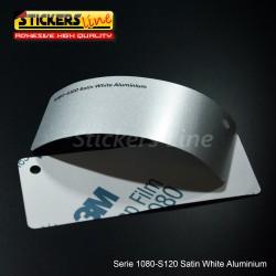 Pellicola adesiva 3M alluminio chiaro satinato serie 1080 cod. S120 adesivo cast film satin aluminium car wrapping auto moto