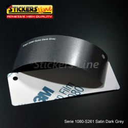 Pellicola adesiva 3M grigio scuro satinato serie 1080 cod. S261 adesivo cast film satin grey car wrapping auto moto