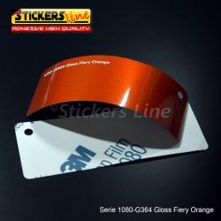 Pellicola adesiva 3M arancione ardente metallizzato lucido serie 1080 cod. G364 adesivo cast gloss orange car wrapping auto moto