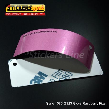 Pellicola adesiva 3M rosa lampone metallizzato lucido serie 1080 cod. G323 adesivo cast gloss pink car wrapping auto moto