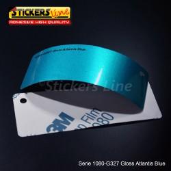 Pellicola adesiva 3M blu antlantis metallizzato lucido serie 1080 cod. G327 adesivo cast gloss blu car wrapping auto moto