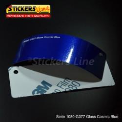 Pellicola adesiva 3M blu cosmic metallizzato lucido serie 1080 cod. G377 adesivo cast gloss blu car wrapping auto moto