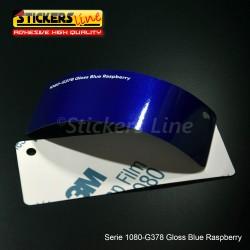 Pellicola adesiva 3M blu mirtillo metallizzato lucido serie 1080 cod. G378 adesivo cast gloss blu car wrapping auto moto