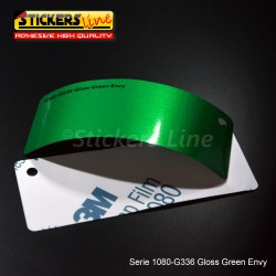 Pellicola adesiva 3M verde invidia metallizzato lucido serie 1080 cod. G336 adesivo cast gloss green car wrapping auto moto