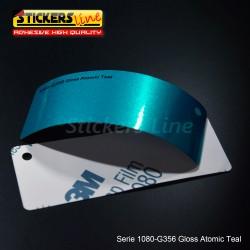 Pellicola adesiva 3M azzurro atomic metallizzato lucido serie 1080 cod. G356 adesivo cast gloss blue car wrapping auto moto