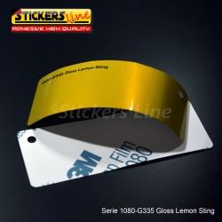 Pellicola adesiva 3M limone metallizzato lucido serie 1080 cod. G335 adesivo cast film gloss lemon car wrapping auto moto