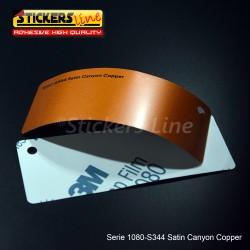 Pellicola adesiva 3M rame canyon satinato serie 1080 cod. S344 adesivo cast satin copper car wrapping auto moto