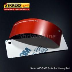 Pellicola adesiva 3M rosso smoldering satinato serie 1080 cod. S363 adesivo cast satin red car wrapping auto moto