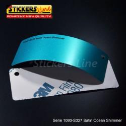 Pellicola adesiva 3M azzurro oceano satinato serie 1080 cod. S327 adesivo cast satin blue car wrapping auto moto