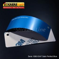 Pellicola adesiva 3M blu perfect satinato serie 1080 cod. S347 adesivo cast satin blue car wrapping auto moto