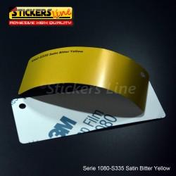 Pellicola adesiva 3M giallo amaro satinato serie 1080 cod. S335 adesivo cast satin yellow car wrapping auto moto