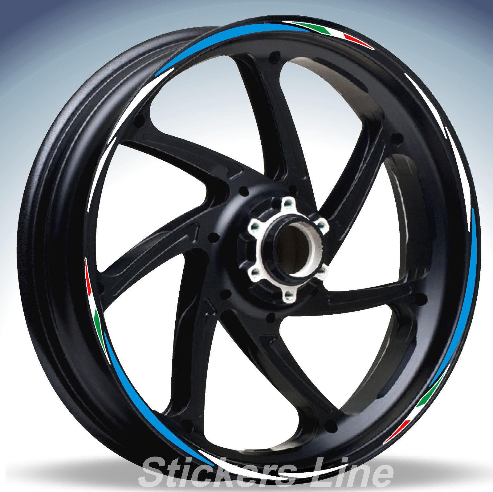 Adesivi ruote moto strisce cerchi SUZUKI GSX-R 125 GSXR125 GSXR 125 Racing 3