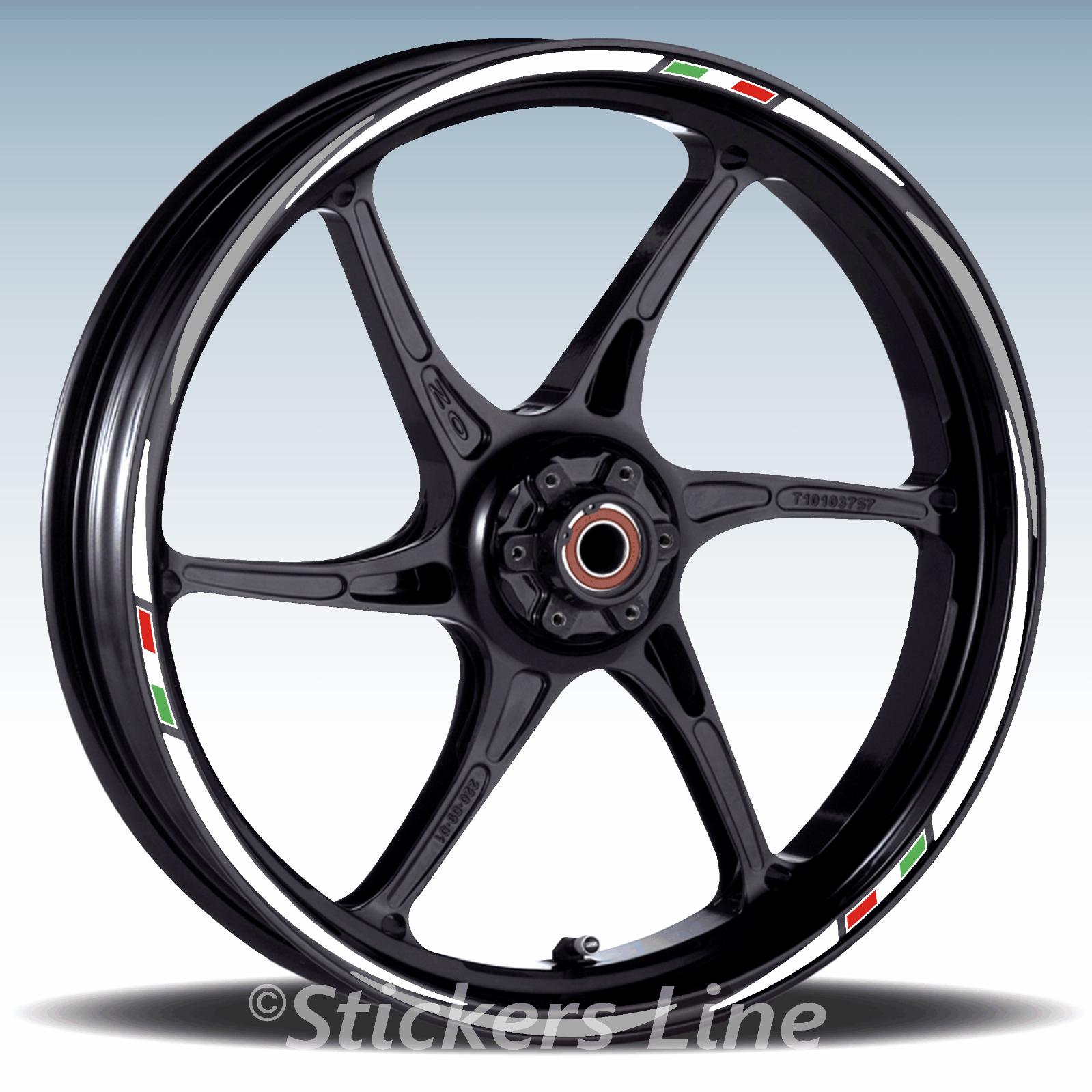 Adesivi ruote moto strisce cerchi BENELLI BN600I BN 600I wheels stickers racing3