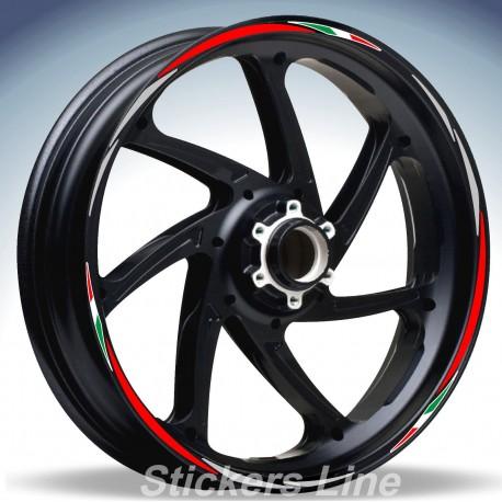 Adesivi ruote moto strisce cerchi BENELLI TRE 899K 899 K Racing4 stickers wheel