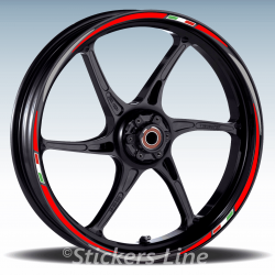 Adesivi ruote moto strisce cerchi per MV Agusta BRUTALE 750 Mod. Racing 3 wheel