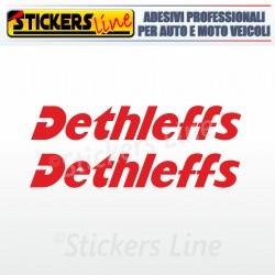 2 Adesivi per camper DETHLEFFS adesivo camper scritte adesive caravan roulotte