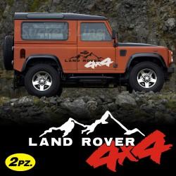 Adesivi LAND ROVER Defender Freelander Discovery ecc MONTAGNA fuoristrada 4X4 off road