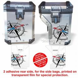 Adesivi BMW ROSA DEI VENTI stampe borse valigie R1200GS Adventure bags stickers