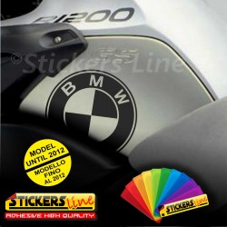 2 Adesivi Serbatoio BMW R1200gs adventure R1200 GS GS stickers bmw fino al 2012