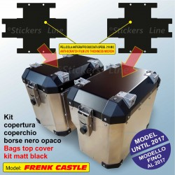 Kit 2 adesivi COPERCHIO SUPERIORE valigie BMW R1200GS bags stickers FRENK CASTLE