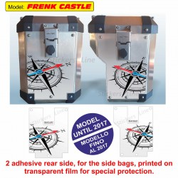 Adesivi valigie BMW R1200GS Adventure ROSA DEI VENTI bags stickers FRENK CASTLE