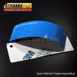 Pellicola adesiva 3M blu intenso lucido serie 1080 cod. G47 adesivo cast film gloss blue car wrapping auto moto