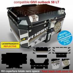 Kit COMPLETO adesivi COMPATIBILI top case GIVI 58 LT 2017 x BMW R1250 Exclusive