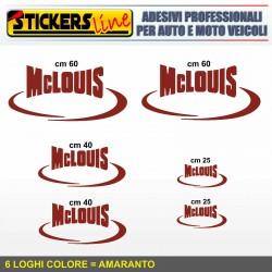 Kit completo 6 adesivi per camper MCLOUIS loghi mc louis caravan roulotte M.3