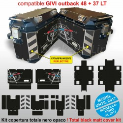 Adesivi valigie GIVI Trekker Outback 48 + 37 LT fino al 2017 BMW R1200 R1250 GS