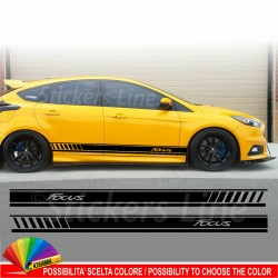 Fasce adesive Ford FOCUS strisce fiancate adesivi laterali RS ST Line Sport