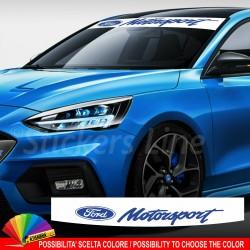 Fascia parasole Ford Motorsport ST Line RS adesivo parabrezza motor sport #