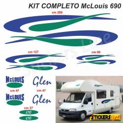 Kit completo adesivi per Camper MC LOUIS GLEN 690 McLouis Linea Professionale