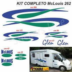 Kit completo adesivi per Camper MC LOUIS GLEN 262 McLouis Linea Professionale