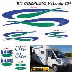 Kit completo adesivi per Camper MC LOUIS GLEN 264 McLouis Linea Professionale